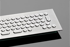 High-quality stainless metal keyboards made in Germany - vandal-proof, waterproof and according to customer-specific requirements.